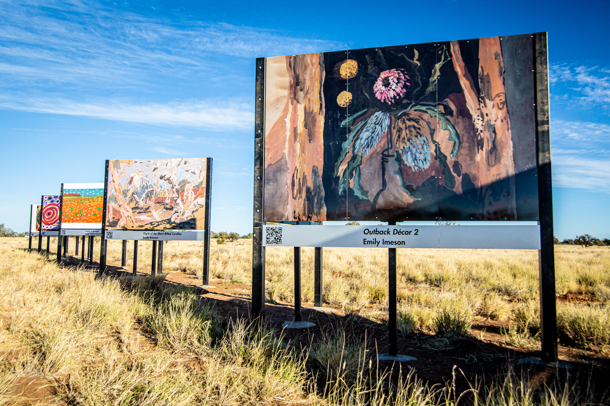Picture of artwork on billboards