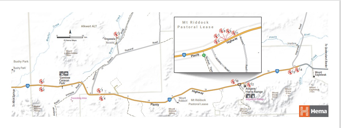 Map of Outback Gallery